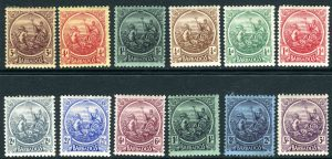 British Colonies & Territories Barbados-1921-24 A Lightly Mounted Mint Set To 3/ Sg 213-278 Stamps